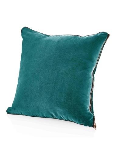The Mia Kadife Yastık 50 x 50 Cm - Nefti Yeşili Yeşil